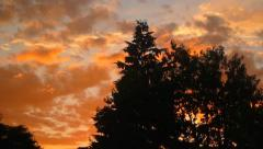 Brilliant Sunset Clouds Timelapse Stock Footage
