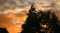 Brilliant Sunset Clouds Stock Footage