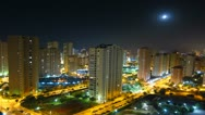 Stock Video Footage of City time lapse at night, Benidorm, Spain
