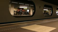 Subway station in Lyon, France Stock Footage