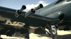 aircraft, F4U Corsair pan - stock footage