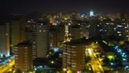 City skyline at night. Time lapse. Stock Footage