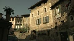 Stock Video Footage of Stone Buildings in Carona, Switzerland