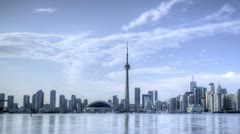Stock Video Footage of Timelapse Toronto Skyline HDR