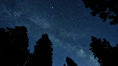 Stars and mikly way in timelapse - stock footage