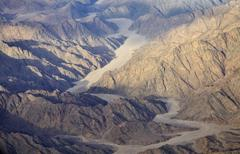 Aerial view of the egyptian mountains and plateaus Stock Photos