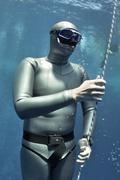 The pleasure of freediving Stock Photos