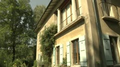 Old House Exterior in Switzerland Stock Footage