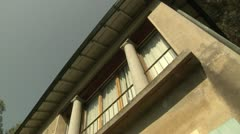 Pillars and Old Windows on House in Switzerland Stock Footage