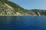 Crater Lake High Speed 120fps 20 Slow Motion Boat shot Water Surface Stock Footage