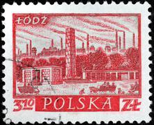 postal stamp - stock photo