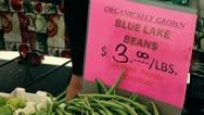 Organic Green Beans Stock Footage