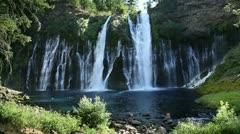 Burney Falls 01 HDR Waterfalls Stock Footage