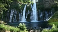 Stock Video Footage of Burney Falls 01 HDR Waterfalls