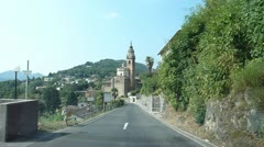 Driving Through Lugano, Switzerland Stock Footage