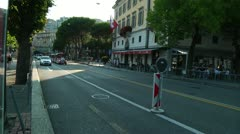 Traffic in Lugano, Switzerland Stock Footage