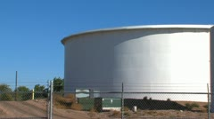 Oil and Petroleum Storage Tanks Stock Footage