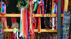 Ukrainian Folk Ornaments On Market Stock Footage