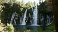 Stock Video Footage of Burney Falls 04 Dolly R Waterfalls