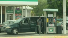 Filling up with gas Stock Footage