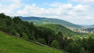 Carpathian Mountains Panorama Left Stock Footage