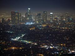 los angeles night - stock photo