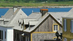 Colonial Town at Fort Louisbourg Canada Stock Footage