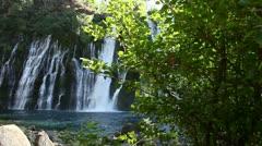 Burney Falls 07 Dolly L Waterfalls Stock Footage