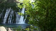 Stock Video Footage of Burney Falls 07 Dolly L Waterfalls
