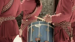 Colonial Soldier Drummers Stock Footage