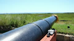 Colonial Canon at Fort Louisbourg Stock Footage