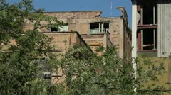Abandoned building (2) - stock footage
