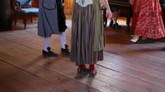 Colonial Ballroom Dancing Stock Footage