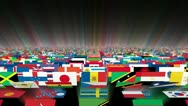 Stock Video Footage of Flags of the World  Carpet Animation, Shine