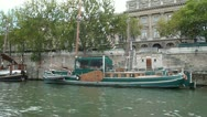 Stock Video Footage of Passing Boats on Seine River