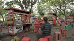 Bali Warung food Stock Footage