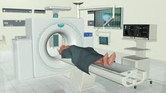 MRI Human Brain Scan, Alpha Stock Footage