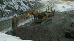 Stock Video Footage of Excavating rocks 4