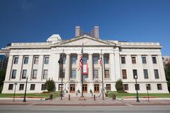 Stock Photo of Ohio State House & Capitol Building in Columbus, OH.
