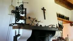 18th century automatic rotiserie Stock Footage