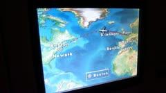 Tracking Flight From Paris to Boston Stock Footage