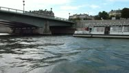 Stock Video Footage of Statue and Bridge on Seine River