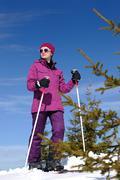 Stock Photo of winter woman ski