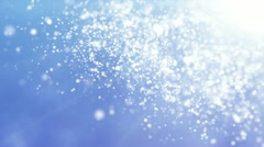 Abstract particles on blue background Stock Footage