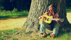 Beautiful hippie girl Stock Footage