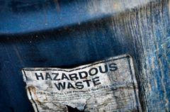 hazardous waste - stock photo