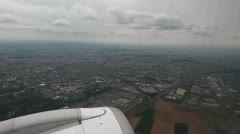 View of France Outside Window of Airplane Stock Footage