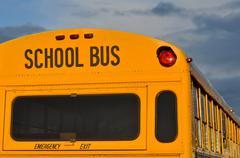 back of school bus - stock photo