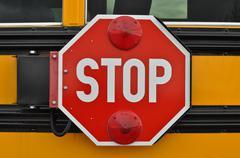School bus stop sign Stock Photos