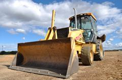Backhoe tractor construction Stock Photos